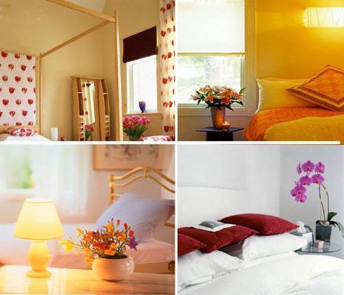 Flower arrangements apartments i like blog for Bedroom flower decoration images
