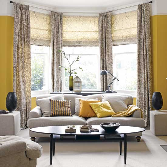 Trend yellow and grey apartments i like blog for Living room 4 pics 1 word