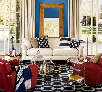Red white and blue decor apartments i like blog - Red white interior design ...
