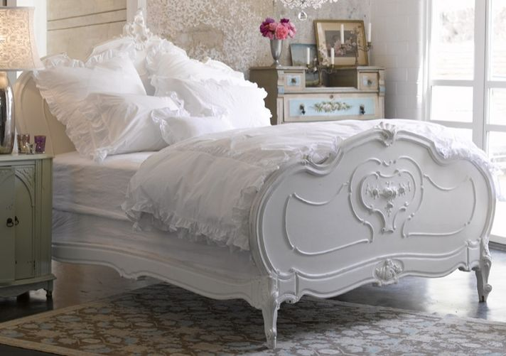 1000 images about shabby bedroom on pinterest for Shabby chic bett
