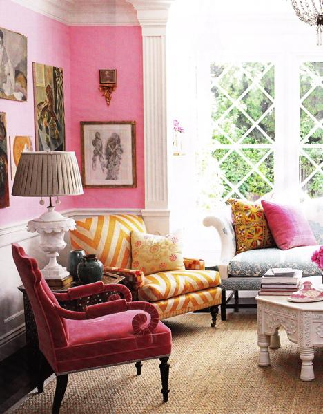 Raspberry decor apartments i like blog for Pink accessories for living room