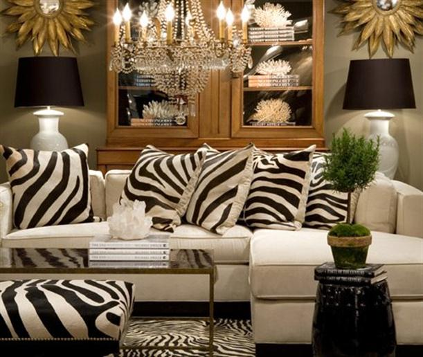 Zebra stripes don t scare me much apartments i like blog for Decoration zebre