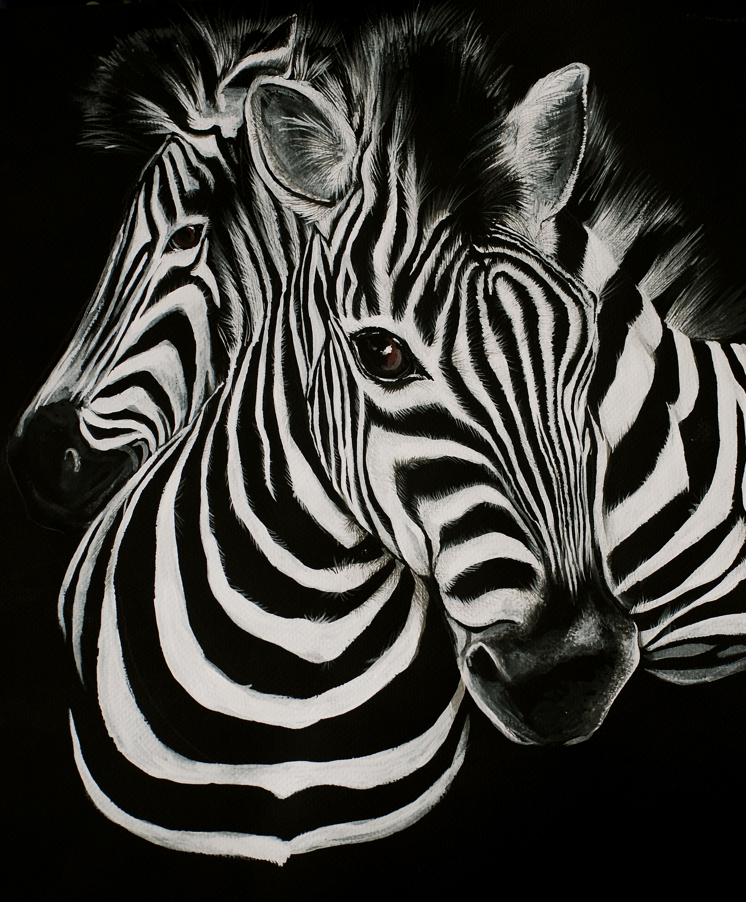 zebra oil painting - photo #40