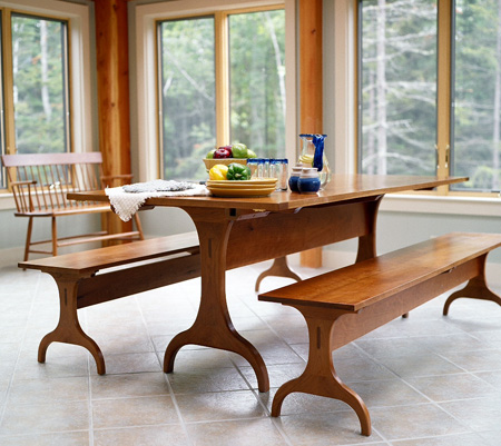 shaker dining room table plans