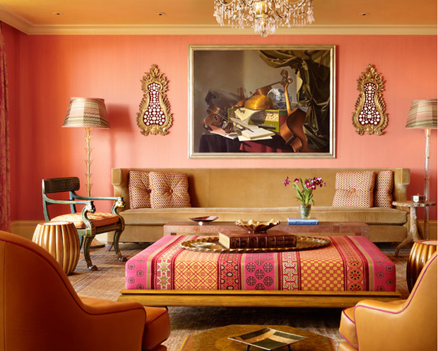 Peach decor apartments i like blog - Moroccan style living rooms ...