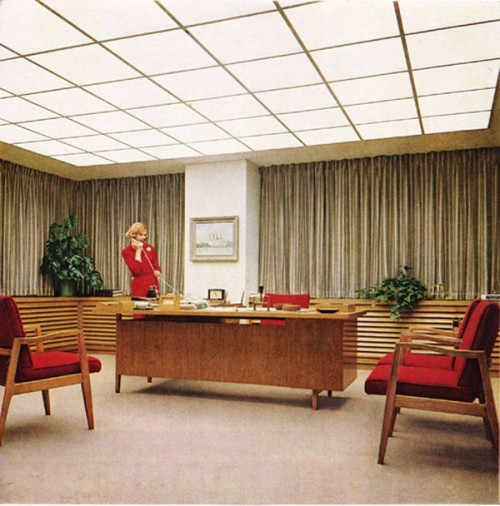and here are some mad men sets from the show office furniture