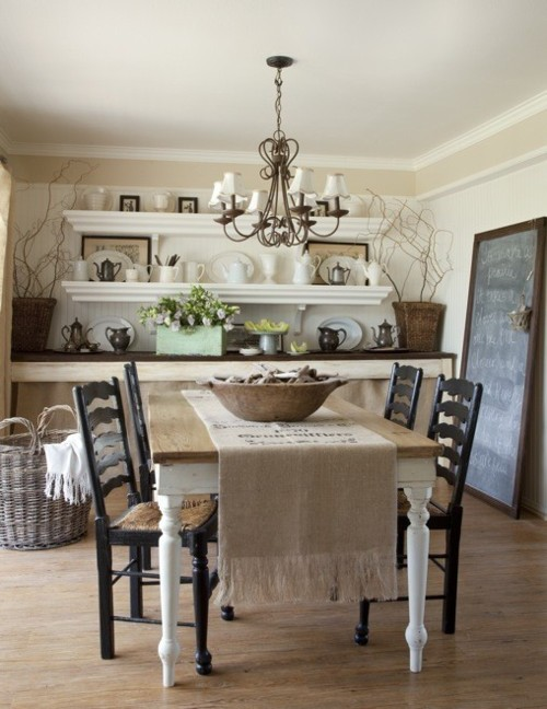 Shabby chic dining rooms apartments i like blog - Shabby chic dining rooms ...