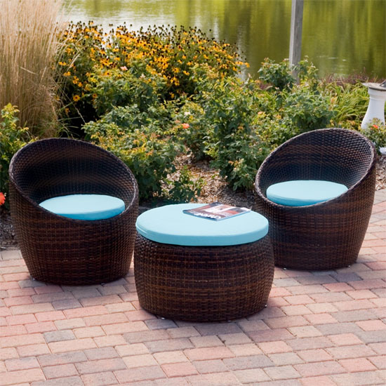 Cheap Folding Chairs Think Stylish With This Small Wicker All Weather