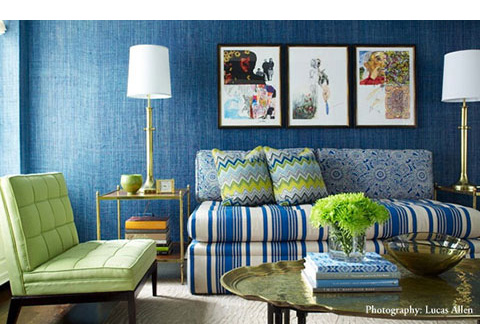 living room teal grasscloth wallpaper - photo #29