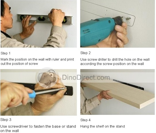 How to make wall shelves at home