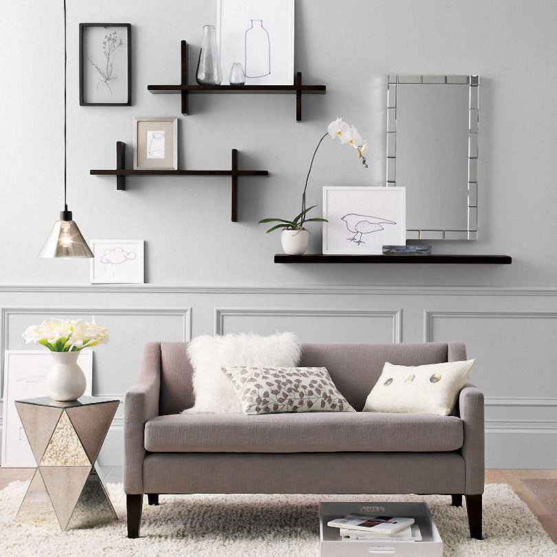 Floating book shelf apartments i like blog Shelf decorating ideas living room