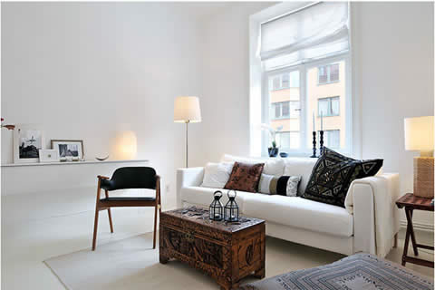 Black Sofa White Home Interior | Redone
