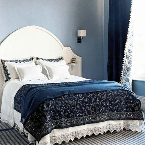 Decor with denim apartments i like blog for Denim bedroom ideas