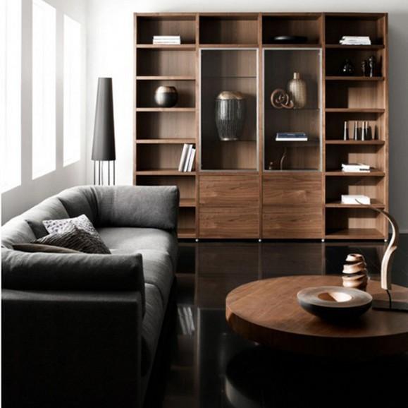 Who s afraid of the dark apartments i like blog - Dark floor white furniture ...