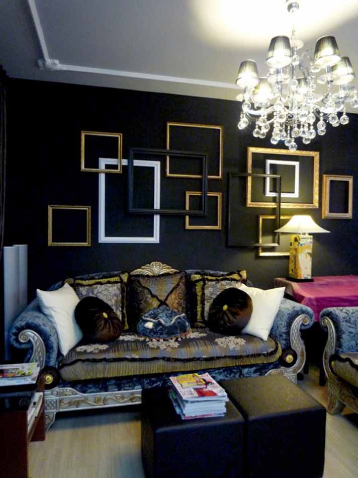 Dark interiors apartments i like blog for Apartment room decorating ideas