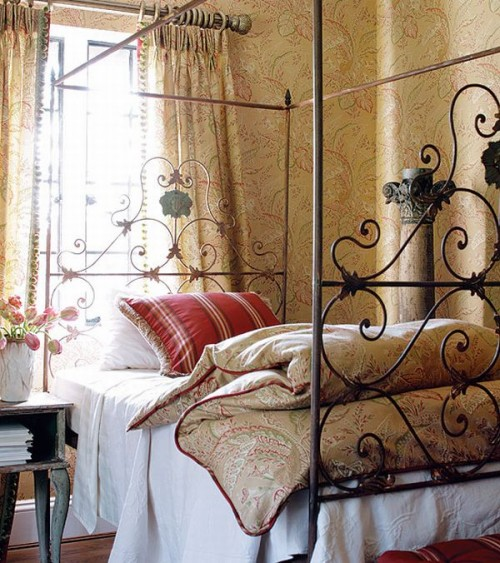 Work Abounds With This French Country Bed And Bedding French Country