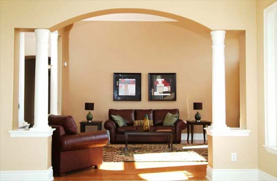 Decorating ideas on pinterest half walls columns and for Designs of arches in living room