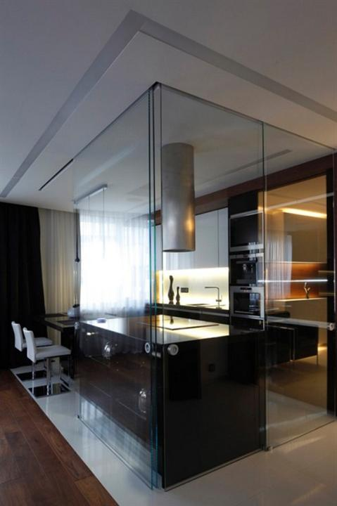 Glass interior walls apartments i like blog Opening glass walls
