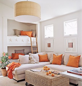 orange and white decor apartments i like blog