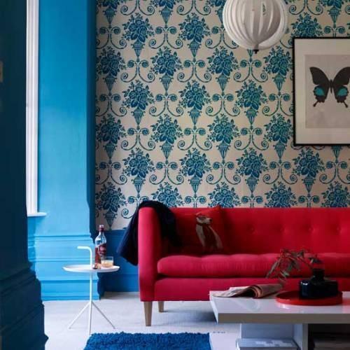 how - Cyan Living Room Decor