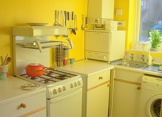 yellow retro kitchens -#main