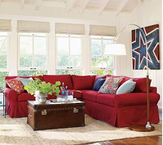 Red white and blue decor apartments i like blog for Red and blue living room ideas