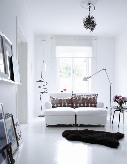 modern white interiors
