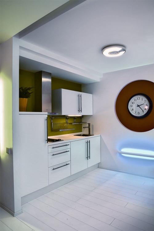 ... and modern small apartment kitchen design via World House Design