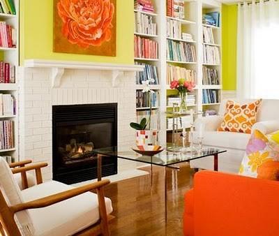 bright-orange-and-yellow-living-room