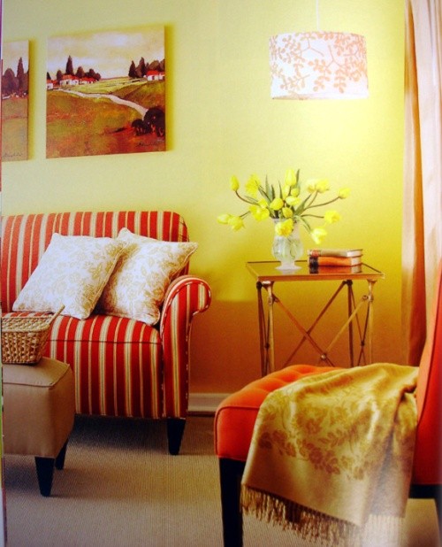 yellow and orange room