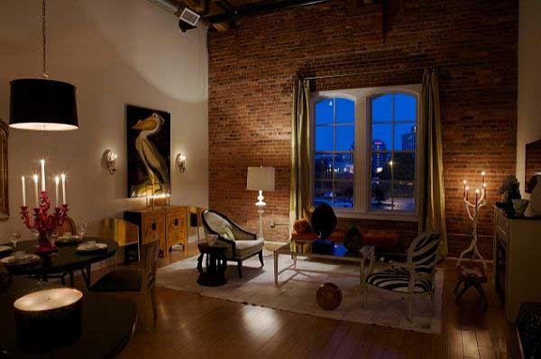 Brick walls apartments i like blog for How to decorate a loft apartment