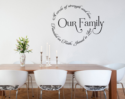 Unique wall decals apartments i like blog for Unique dining room wall decor
