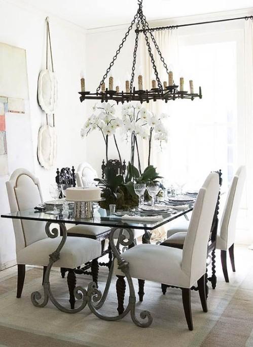 vintage-dining-room-design-white-color-scheme