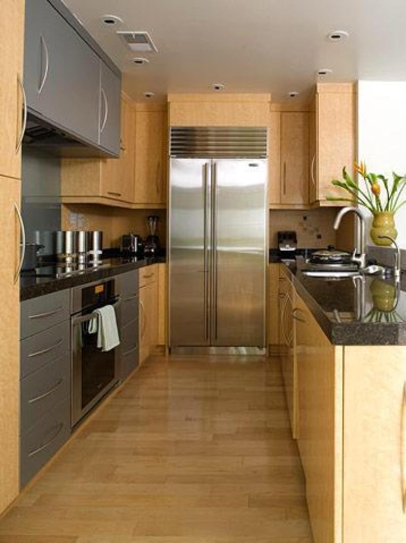 Narrow Kitchen Design With Island
