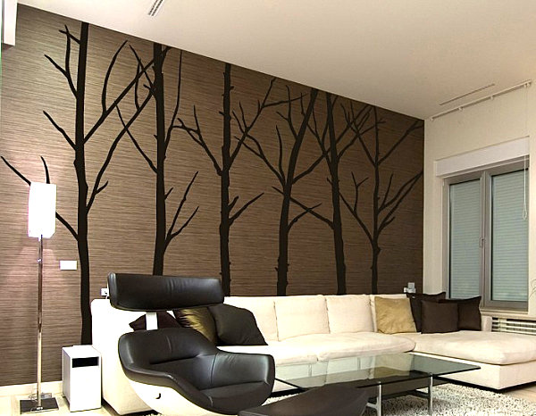 Winter tree wall decals
