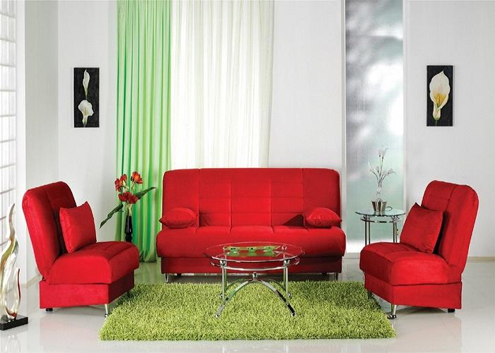 Red Living Room: Apartments I Like Blog