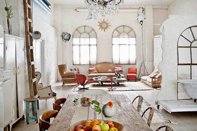 Superior Vintage Eclectic Interior_apartment