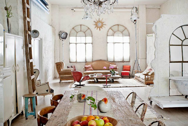 Beautiful Vintage Eclectic Interior_apartment