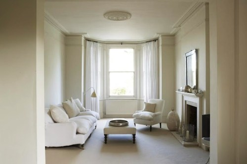 white pale living room via tumblr