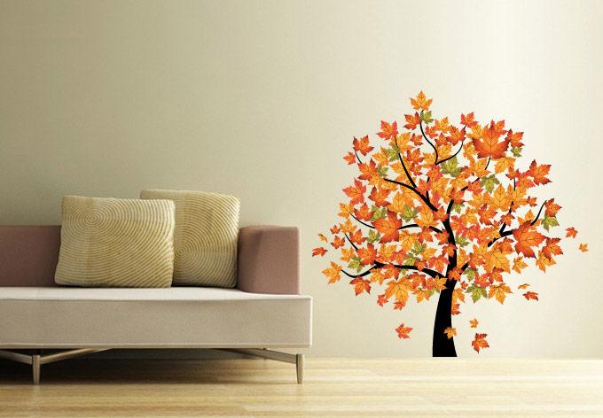 Falling Leaves Wall Decor : Fall leaf wall decor apartments i like