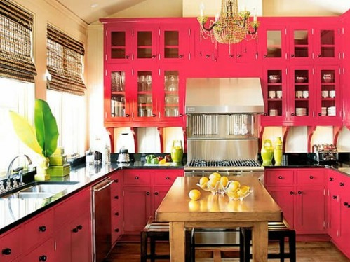 colorful small kitchens